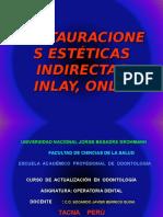 Restauracionesindirectastipoinlay,Onlay- Actualización 2011