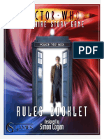 Doctor Who Solitaire Story Game - Rules