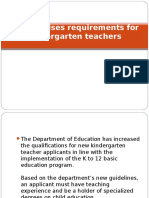 DepEd Raises Requirements for Kindergarten Teachers