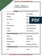 CBSE Class 1 EVS Assignment (2) - Revision Paper