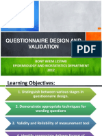 Questionnaire Design and Validation BWL 2012