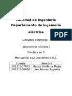 Informe Lab 5 - Circuitos I