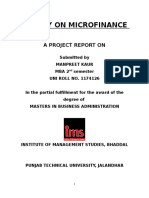 A Study on Micro Finance Manpreet Mba