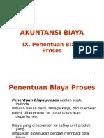 Penentuan Biaya Proses