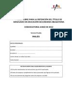 Cuestionario Inglés