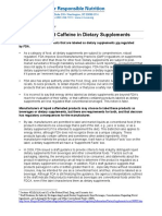 Caffeine Ds Fact Sheet