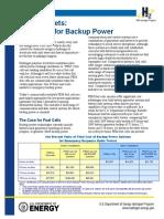 Early Markets Backup Power