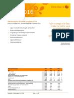 Swedbanks delårsrapport kvartal 1 2016