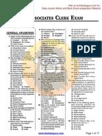 SBI Associates Clerk Exam, 14.10.2012 (2nd Sitting)