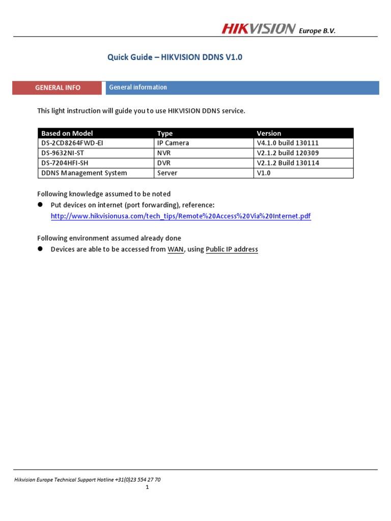 HIKVISION NETWORK CONFIGURATION pdf | Domain Name System
