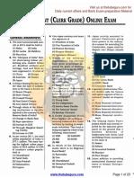 SBI Assistant (Clerk Grade) Exam,23.08.2014