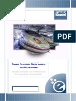 Trazado Ferroviario. Planta, Alzado y Sección Transversal