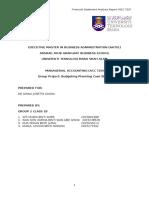 Budgeting Planning Case Study