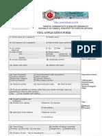 Turkey Visa Application Form