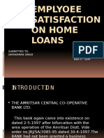 Emplyoee Satisfaction on Home Loans
