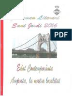 Nil Bertomeu 1r Premi 3r a Certamen Literari de Sant Jordi