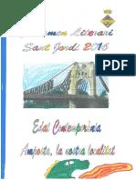 Àlex Lluís 1r Premi 3r B Certamen Literari de Sant Jordi