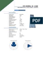 Spécifications Antennes rectilignes