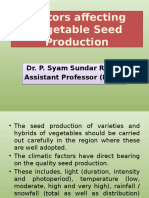 Climate Factors affecting seed production