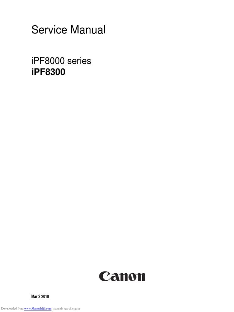 ipf8000 series service manual printer computing signal rh scribd com