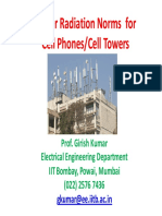Cell Towers Recommendation Radiation Norms Btua