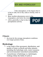 Weather and Hydrology