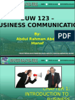 Chapter 1 - Introduction to Business Communication