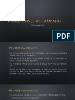 Analisis Investasi Tambang miggu !!!