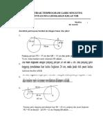 Soal Ulangan Garis Singgung Persekutuan Dua Lingkaran Kelas Viii
