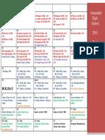 2016 testing calendar