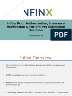 Infinx Prior Authorization, Insurance Verification & Patient Pay Estimation Solution