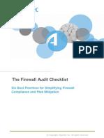 Firewall Audit Checklist