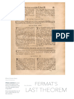 Fermat's Last Theorem Document