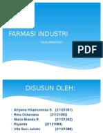 Industri Farmasi Dokumentasi