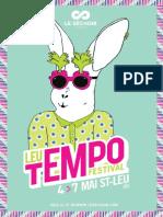 Le Programme du Leu Tempo Festival 2016