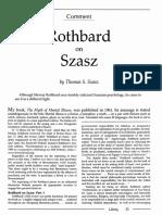 Rothbard on Szasz, by Thomas Szasz