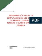 Programación Anual de Computación