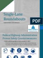 Single-Lane Roundabout Presentation GVCC