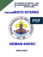 Regimento Interno Geman-045.Sc- 29-01-2007