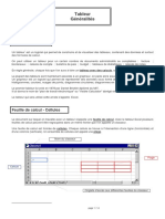 Informatique Presentation Tableur
