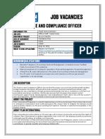 Job Advertisement - Finance&Compliance Officer