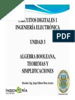 Algebra de Boole, Postulados, Mapas de Karnaugh - Digitales I