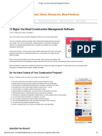 13 Signs You Need Construction Management Software