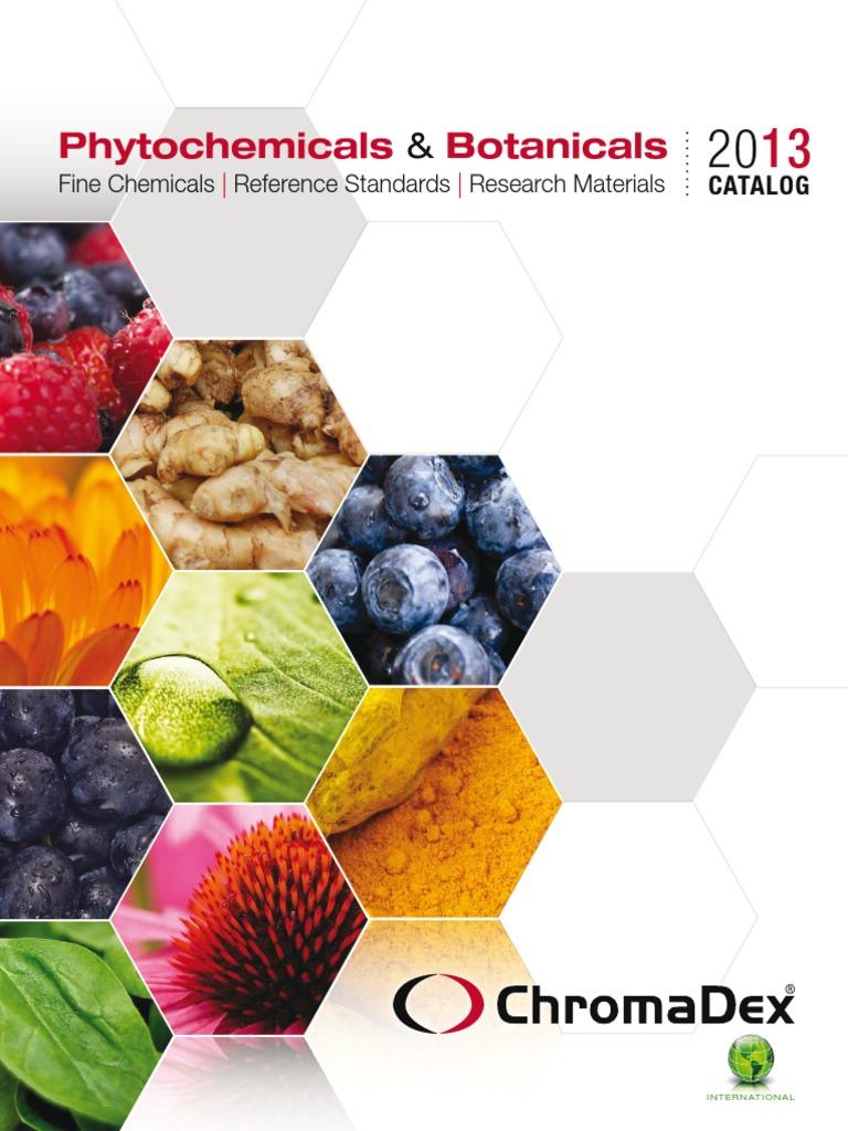 Catálogo de ChromaDex | Natural Products | Chromatography