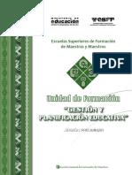 Unidad de Form. ESFM; Gest y Planif Educativa GRUPO 3