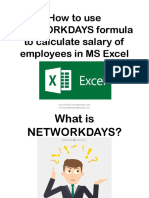 How to Use NETWORKDAYS Formula to Calculate Salary of Employees in MS Excel_Sofia B_Precision Minister