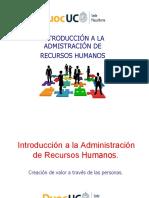 Introducción a la administración de RRHH