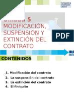 FOL 5 MODIFICACIÓN, SUSPENSIÓN Y EXTINCIÓN DEL CONTRATO.ppt