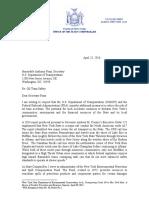 DiNapoli Oil Train Letter