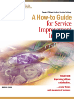 A How-to Guide for Service Improvement Initiatives